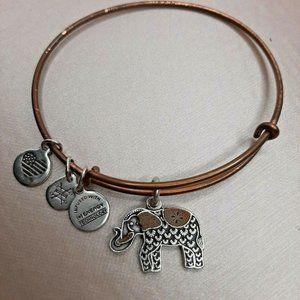 Alex and Ani Elephant III Bangle Two-Tone Bracelet